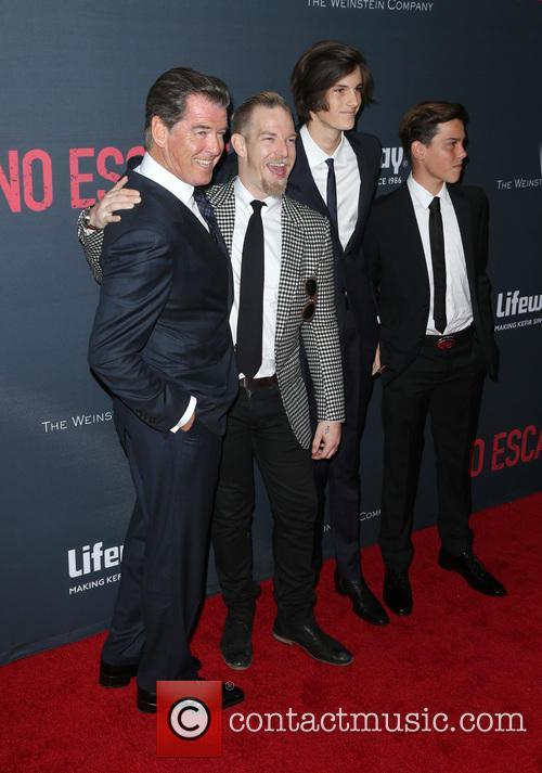 Pierce Brosnan, Sean Brosnan, Dylan Brosnan and Paris Brosnan 2
