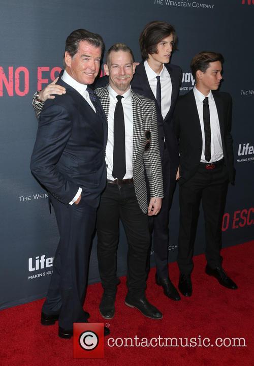 Pierce Brosnan, Sean Brosnan, Dylan Brosnan and Paris Brosnan 4