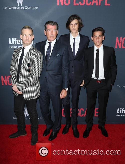 Pierce Brosnan, Sean Brosnan, Dylan Brosnan and Paris Brosnan 5