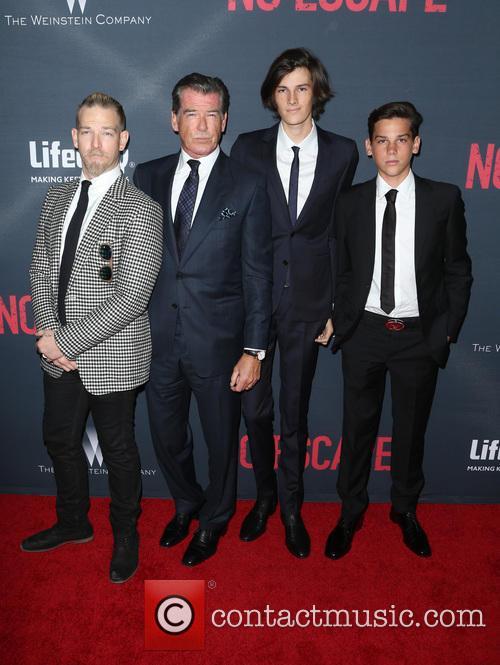 Pierce Brosnan, Sean Brosnan, Dylan Brosnan and Paris Brosnan 6