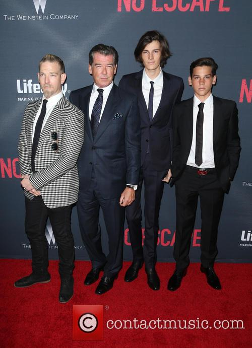 Pierce Brosnan, Sean Brosnan, Dylan Brosnan and Paris Brosnan 1