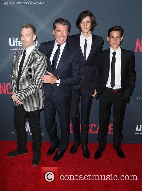 Pierce Brosnan, Sean Brosnan, Dylan Brosnan and Paris Brosnan 7
