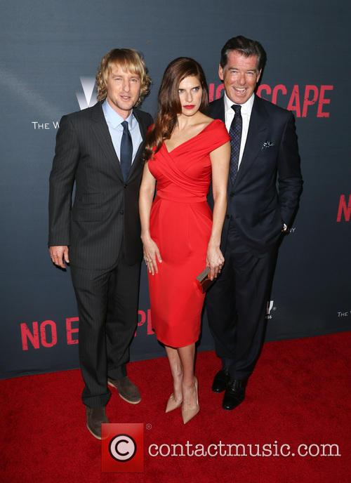 Owen Wilson, Lake Bell and Pierce Brosnan 4