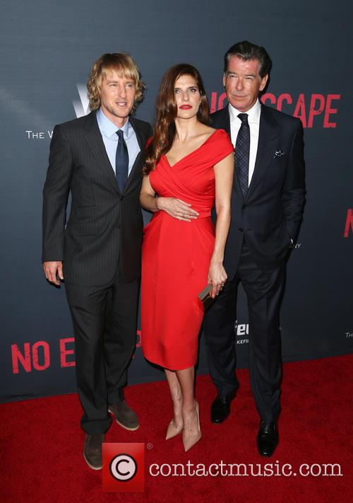 Owen Wilson, Lake Bell and Pierce Brosnan 5