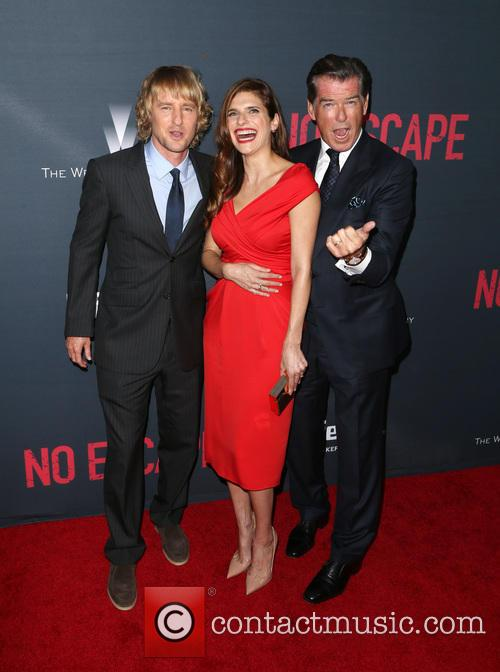 Owen Wilson, Lake Bell and Pierce Brosnan 9