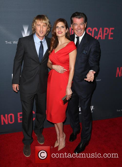 Owen Wilson, Lake Bell and Pierce Brosnan 11