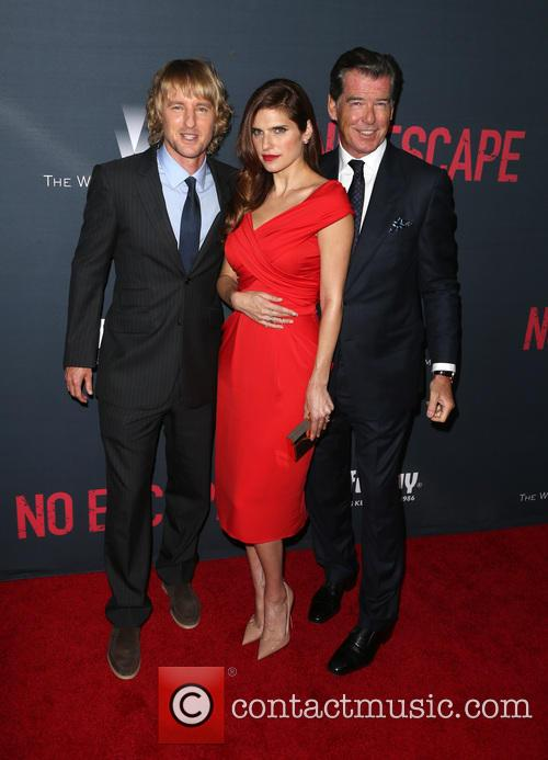 Owen Wilson, Lake Bell and Pierce Brosnan 1