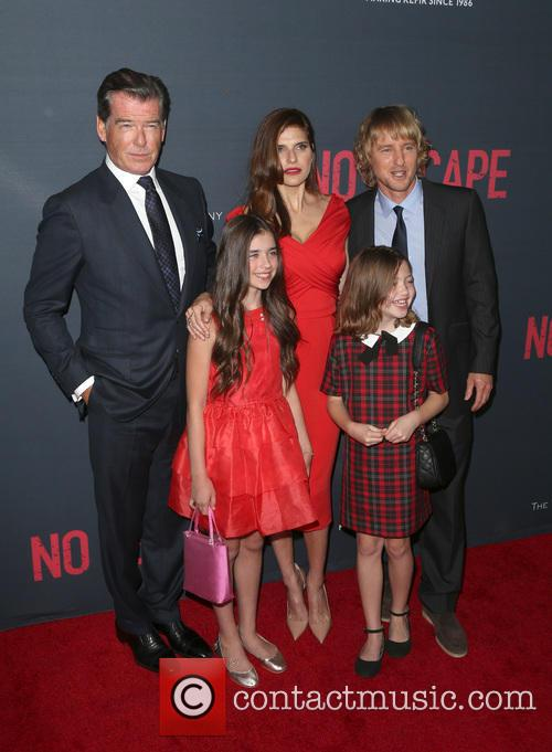Owen Wilson, Lake Bell, Pierce Brosnan, Sterling Jerins and Claire Geare