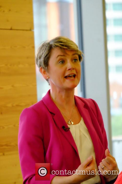 Yvette Cooper holds an event for women in...