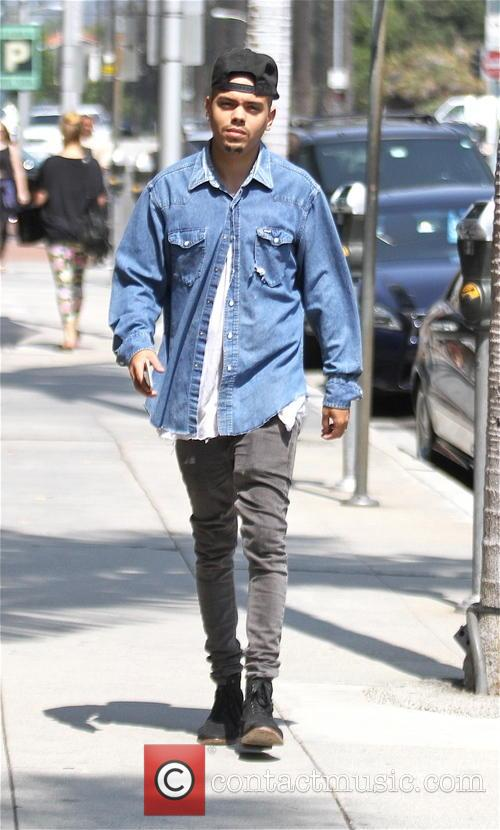 Evan Ross out and about in a denim...