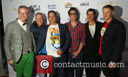 Guest, Kelly Knievel, Jeff Tremaine, Johnny Knoxville, Mat Hoffman and Daniel Junge 2