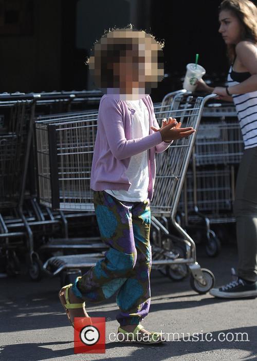 Gabriel Aubrey takes his daughter shopping