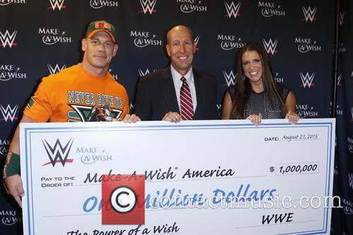 John Cena, David Williams and Stephanie Mcmahon 1