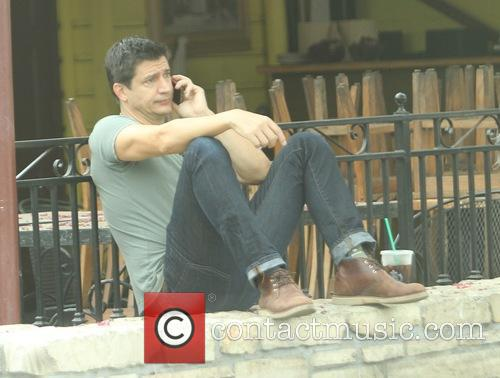 Ken Marino stops for coffee at Starbucks in...
