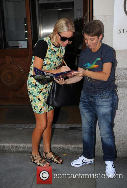 Kimberley Walsh and Denise Van Outen arrive at...