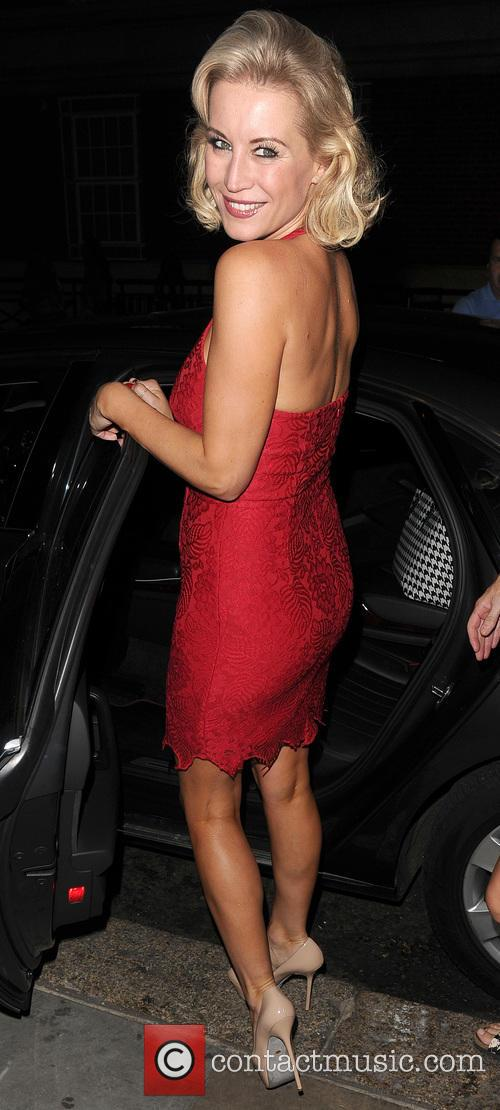 Kimberley Walsh and Denise Van Outen leave Cadogan...