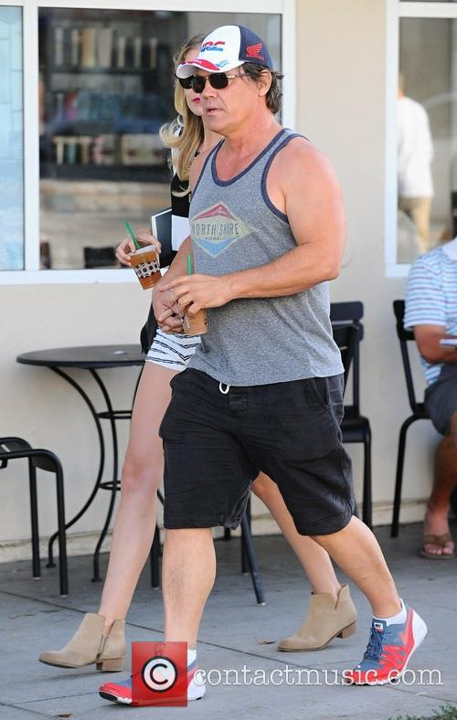 Josh Brolin and Kathryn Boyd out in Los...