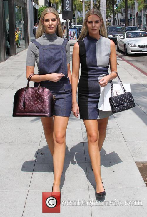 Monica and Camilla Berg out shopping in Beverly...
