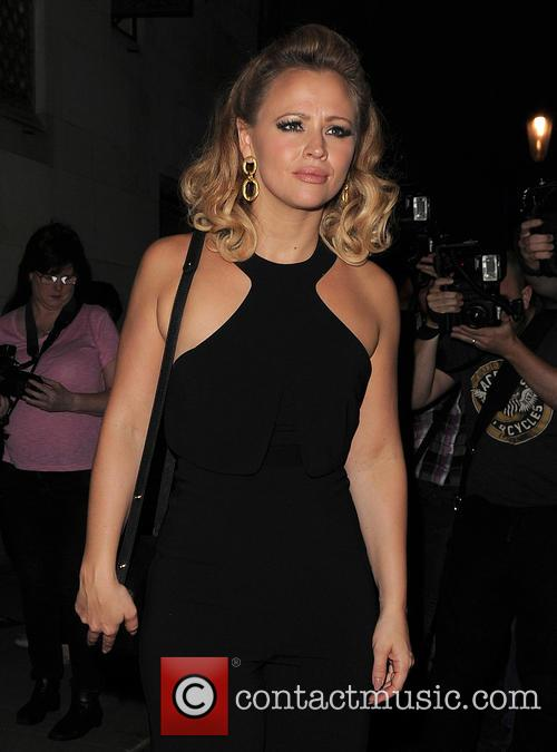 Denise Van Outen and Kimberley Walsh enjoy a...