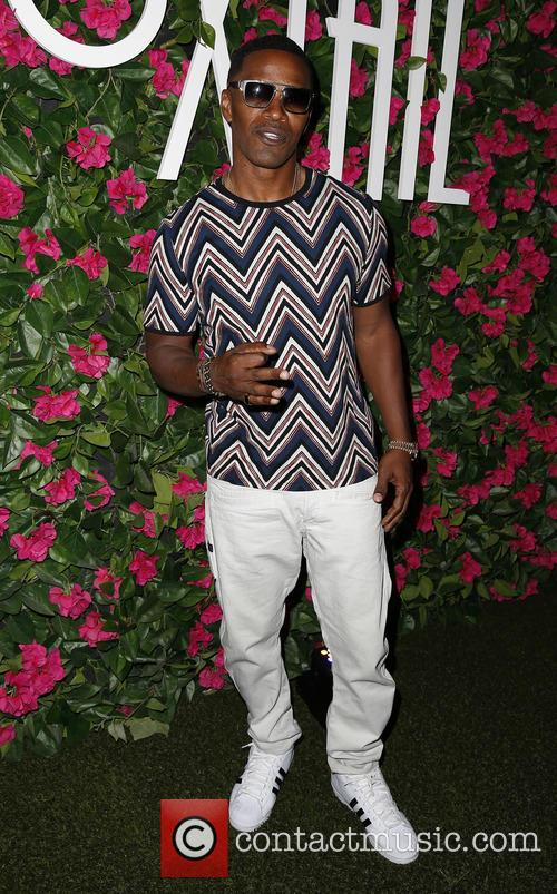 Jamie Foxx performs at Foxtail Pool