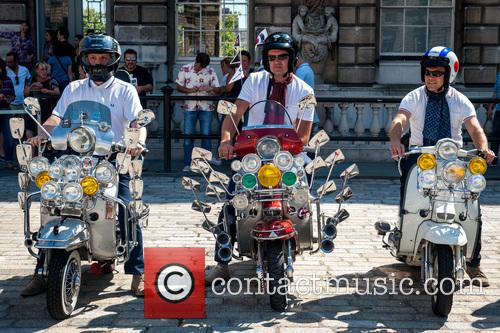 Mods arrive at London's Somerset House to celebrate...