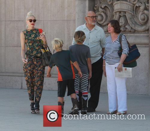 Gwen Stefani, Kingston Rossdale, Zuma Rossdale and Apollo Rossdale 2