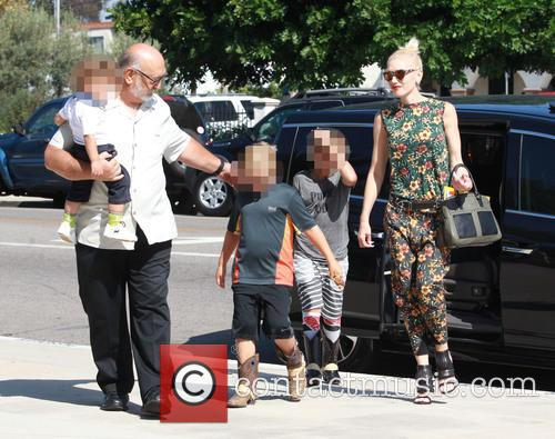 Gwen Stefani, Kingston Rossdale, Zuma Rossdale and Apollo Rossdale 4