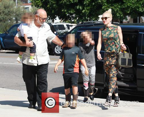 Gwen Stefani, Kingston Rossdale, Zuma Rossdale and Apollo Rossdale 5