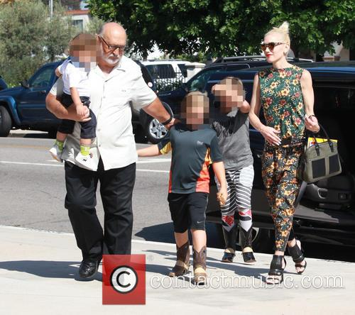 Gwen Stefani, Kingston Rossdale, Zuma Rossdale and Apollo Rossdale 6