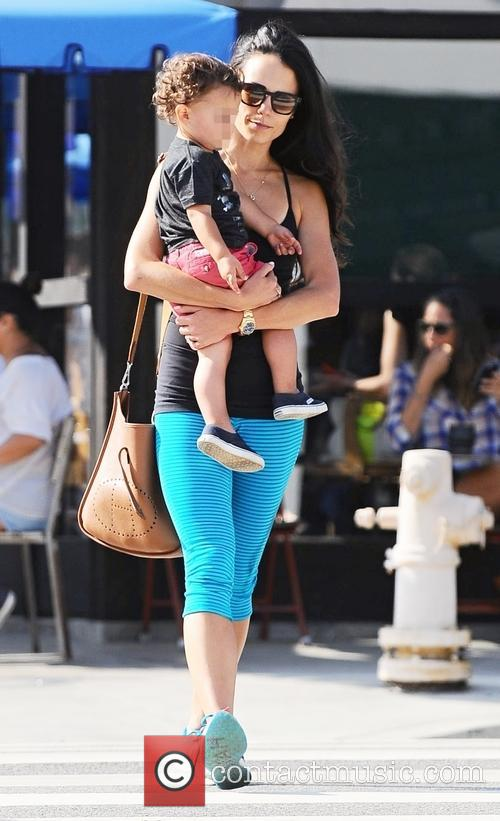 Jordana Brewster out with her son Julian in...
