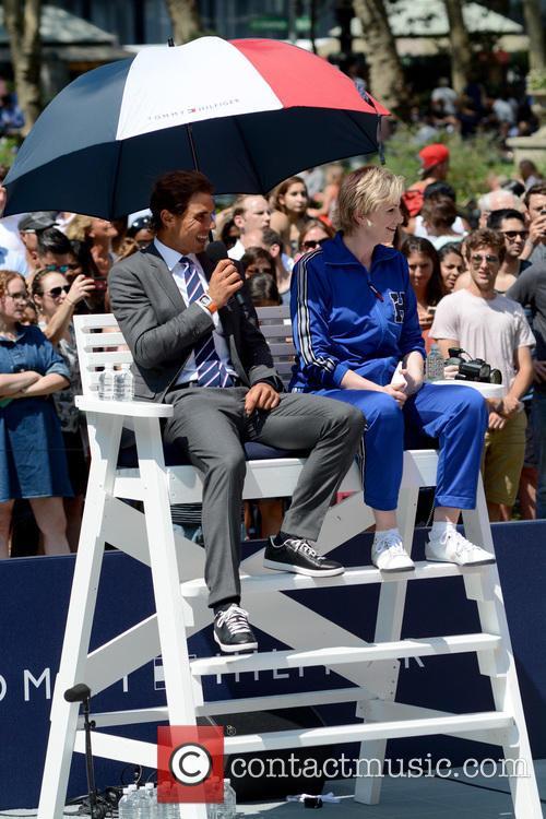 Rafael Nadal and Jane Lynch 1