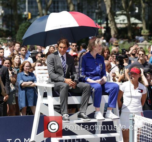 Rafael Nadal and Jane Lynch 2