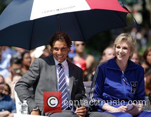 Rafael Nadal and Jane Lynch 3