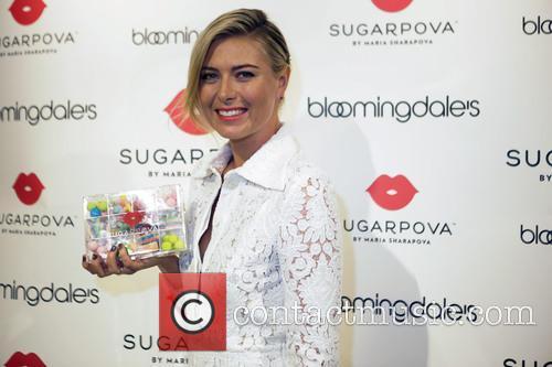 Maria Sharapova opens the new Sugarpova pop-up shop
