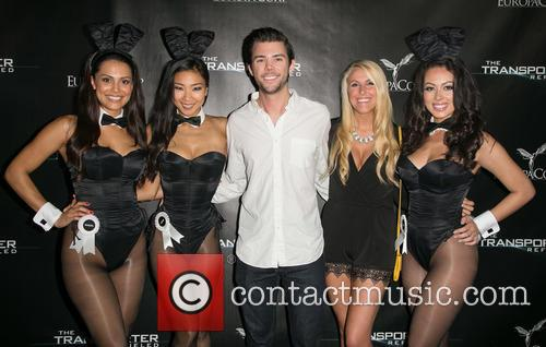 Hiromi Oshima, 2013 Playmate Of The Year Raquel Pomplun, Sweepstakes Winner Justin Potts, Jennifer Parr, Miss March 2013 Ashley Doris, Playboy and The Transporter 1