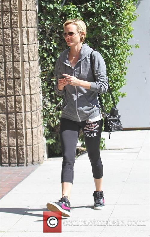 Amber Valletta goes shopping in Beverly Hills