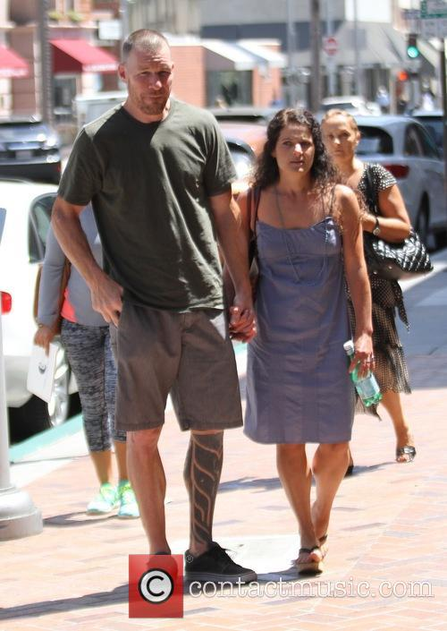 Tim Commerford with his wife in Beverly Hills