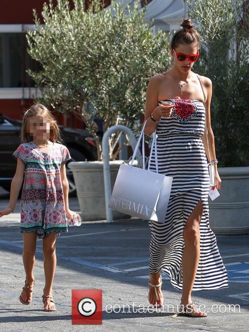 Alessandra Ambrosio leaving the Brentwood Country Mart with...