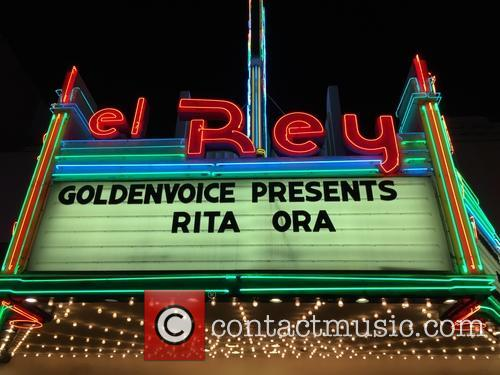Celebrities leaving the El Rey Theatre