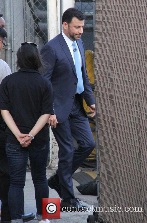 Jimmy Kimmel arrives at the ABC studios