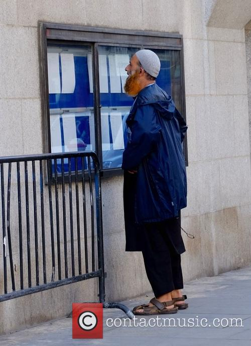 Anjem Choudary in Court at the Old Bailey
