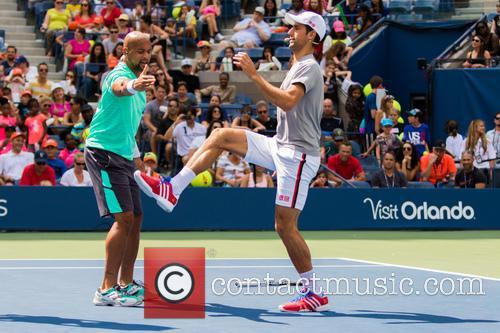 Saun T and Novak Djokovic 2