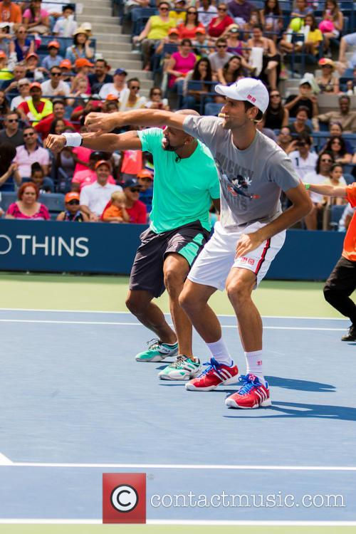 Saun T and Novak Djokovic 1