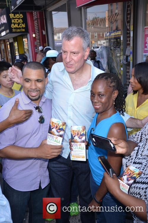 Mayor De Blasio and First Lady Chirlane Mccray 4