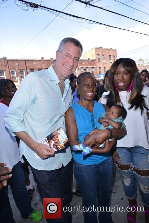 Mayor De Blasio and First Lady Chirlane Mccray 7