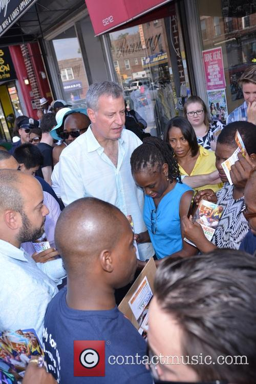 Mayor De Blasio and First Lady Chirlane Mccray 8