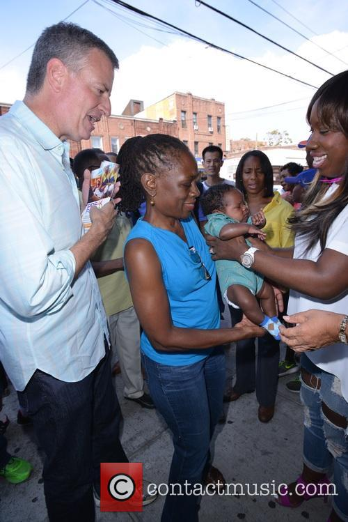 Mayor De Blasio and First Lady Chirlane Mccray 9