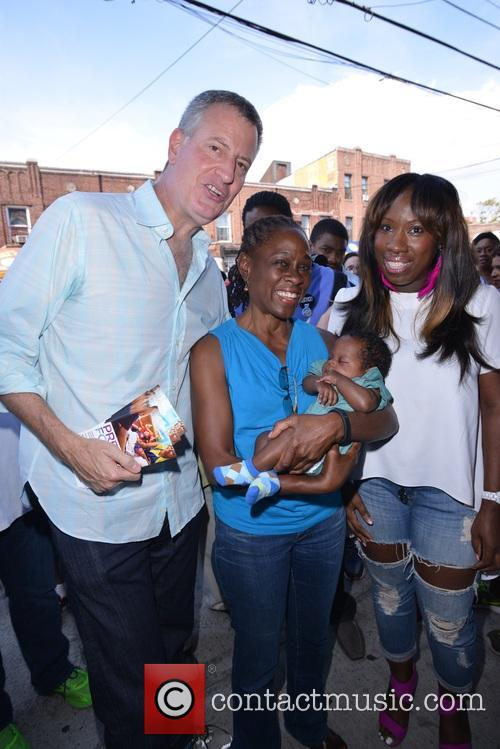 Mayor De Blasio and First Lady Chirlane Mccray 11