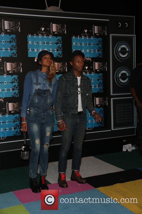 Pharrell Williams and Helen Lasichanh 1