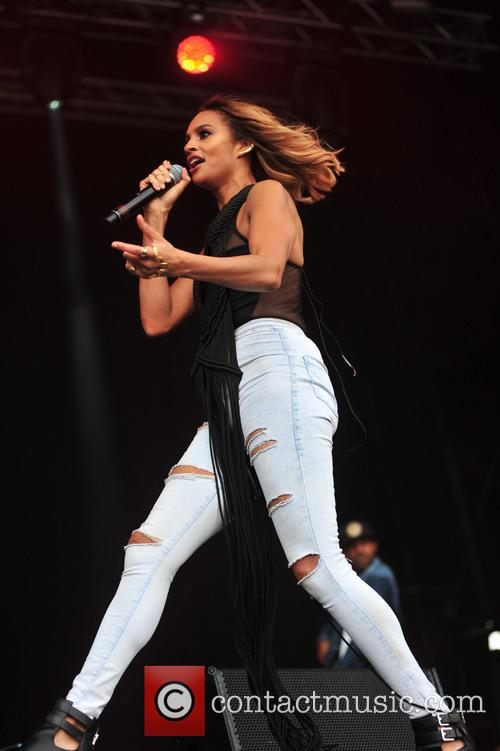 Alesha Dixon performs at LIMF in Liverpool.